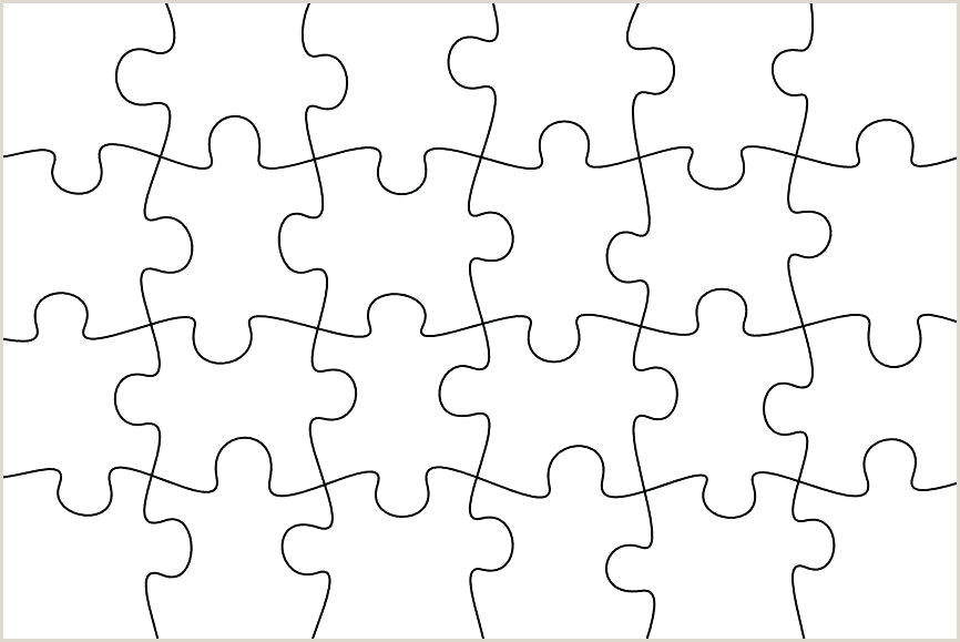 Large Puzzle Piece Template Printable Lovely Puzzle Pieces Vector Fresh Blank Jigsaw Piece