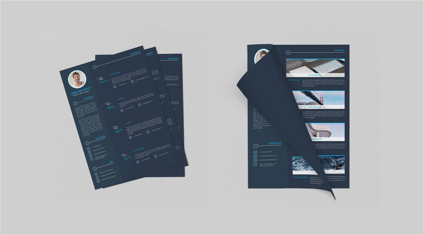 Latest Curriculum Vitae format Download Best Free Resume Templates In Psd and Ai In 2019 Colorlib