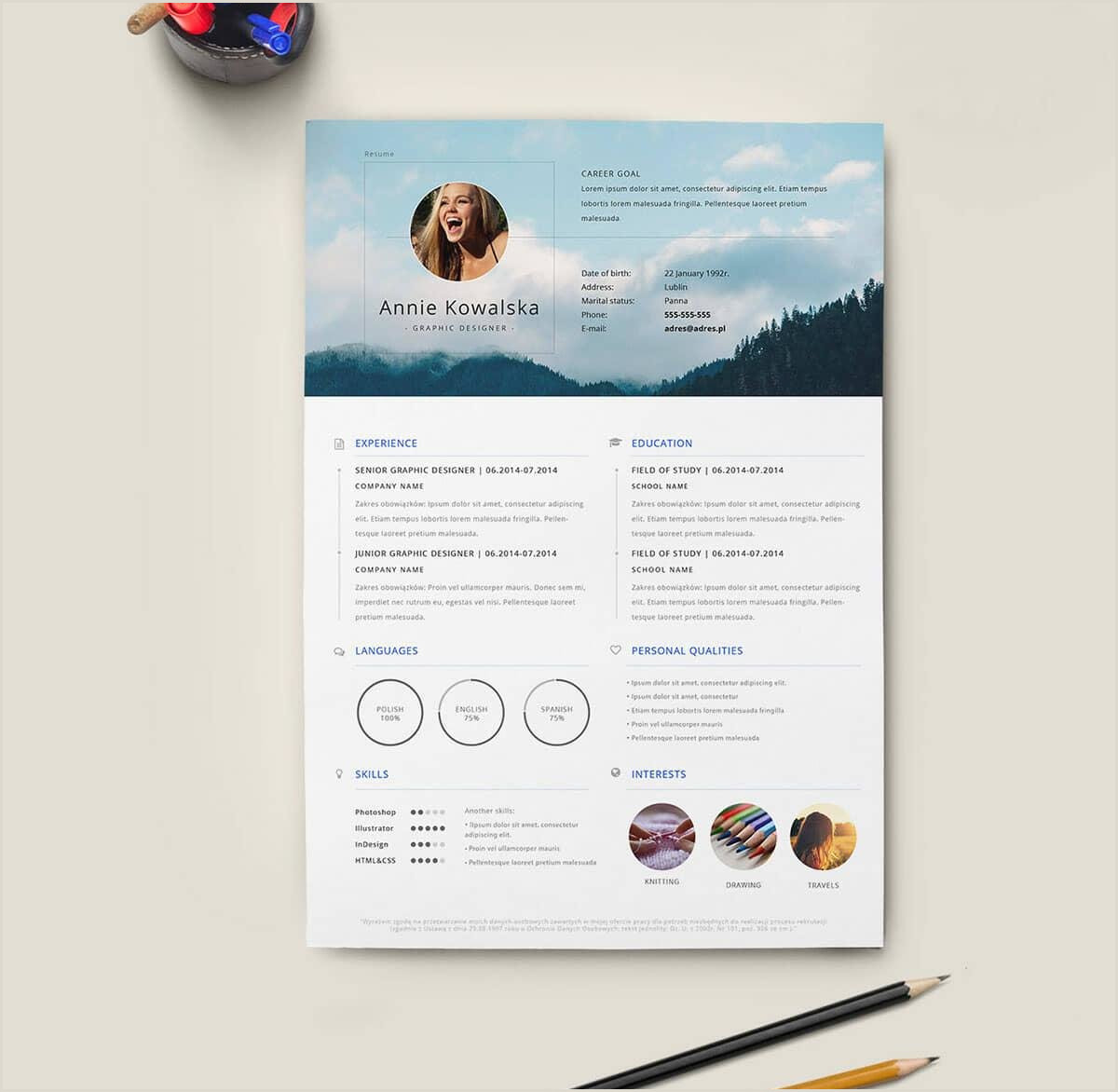 Latest Curriculum Vitae format Download Pdf 17 Free Resume Templates Downloadable