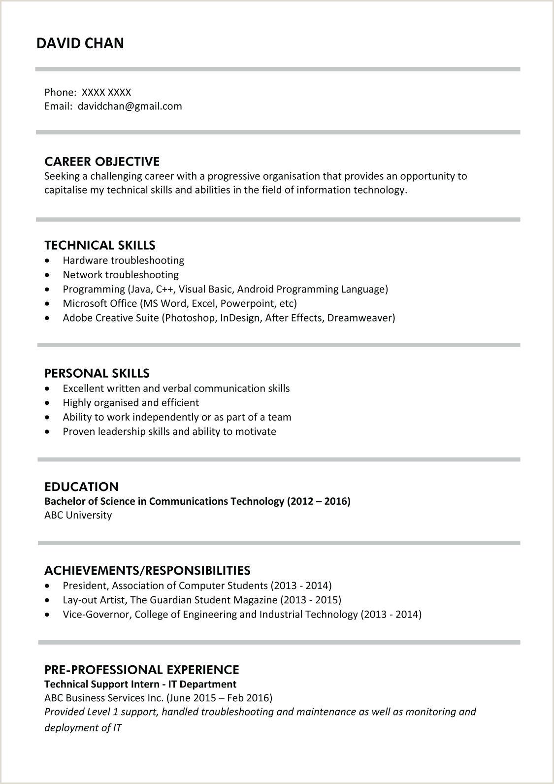 Sample Resume Templates Good Format Latest Cv Pdf Doc Best