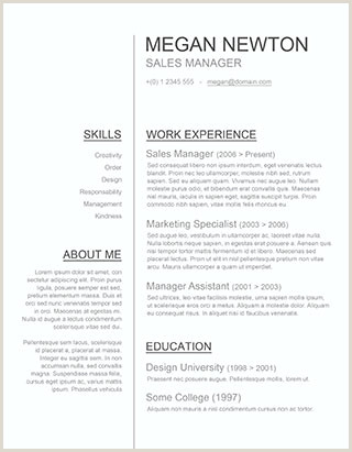 Latest Cv format Doc File 150 Free Resume Templates for Word [downloadable] Freesumes