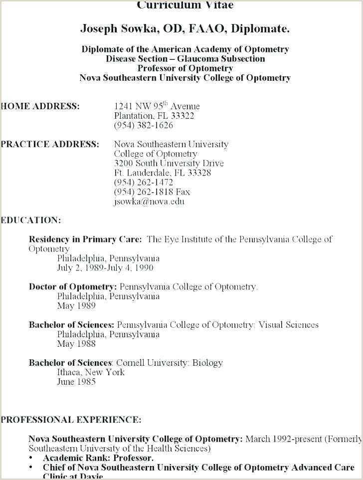 Student Resume Example Lovely Excel Resume Template Unique