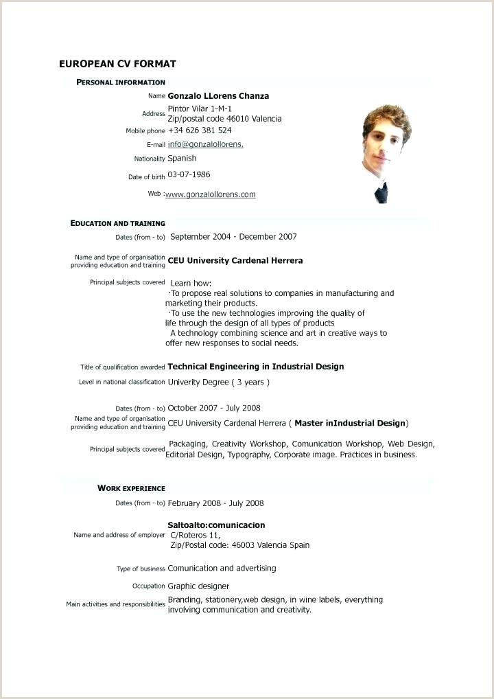 Simple Resume Format Free Download In Ms Word Sample Resumes
