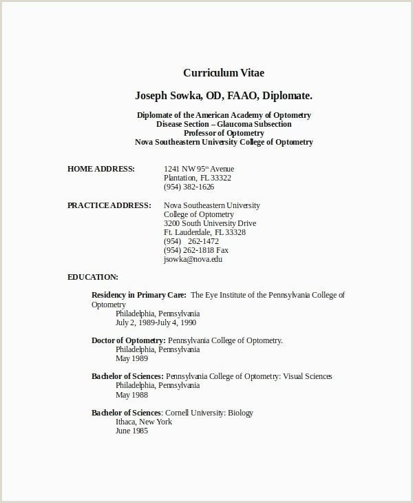 Cv format for Freshers In Word Free Download Best Resume