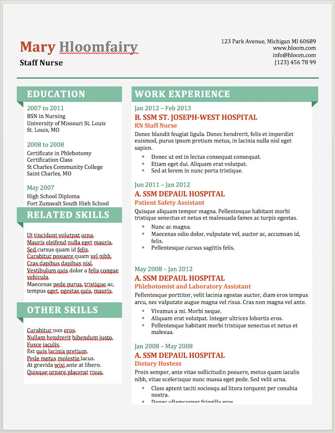 Latest Cv format Editable 25 Free Resume Templates for Microsoft Word & How to Make