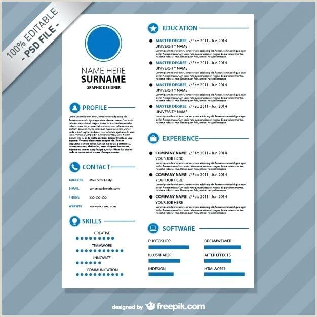 free cv format template