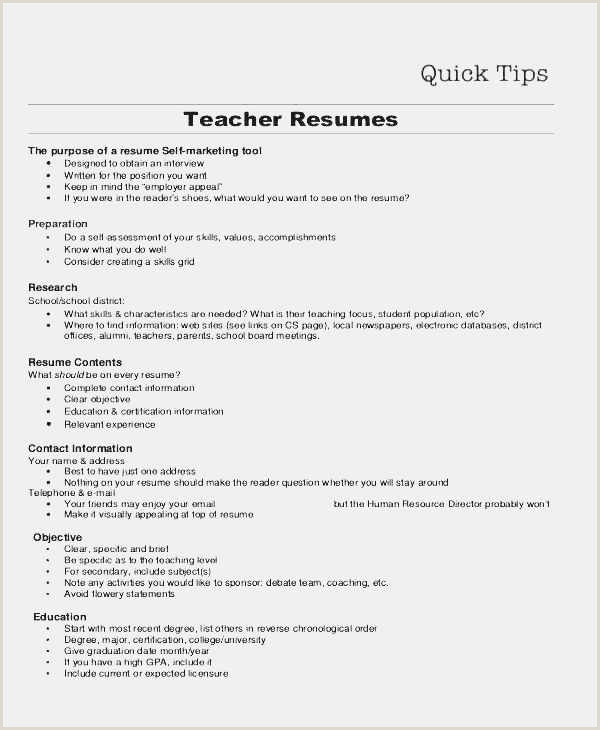 Latest Cv format for A Teacher Free Resume Vita Simple