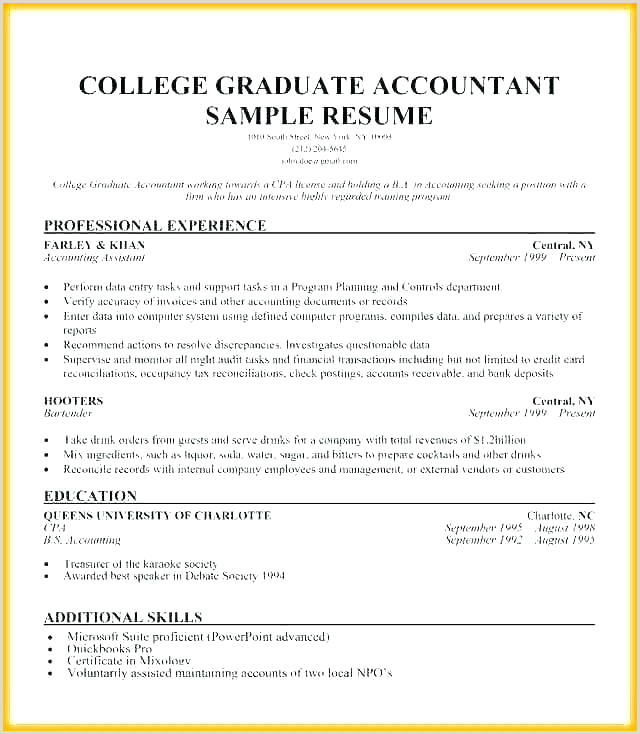 Latest Cv format for Accountant Free Download Graduate Cv Template