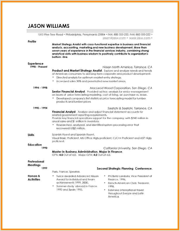 Latest Cv format for Accountant Free Download Modele Cv Word Gratuit A Telecharger