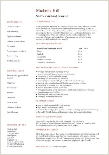 Latest Cv format for Accountant Student Cv Template Samples Student Jobs Graduate Cv