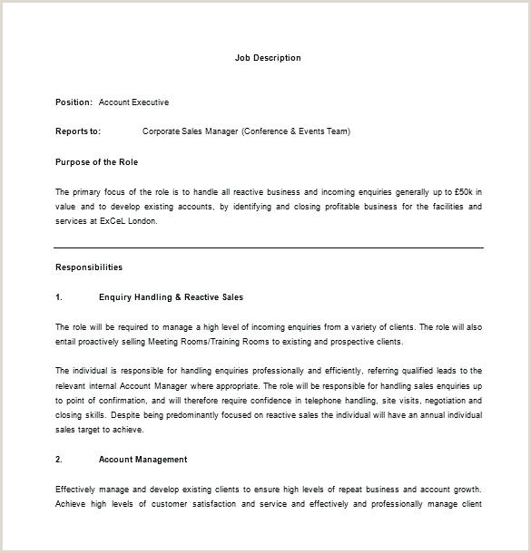 account manager job description template