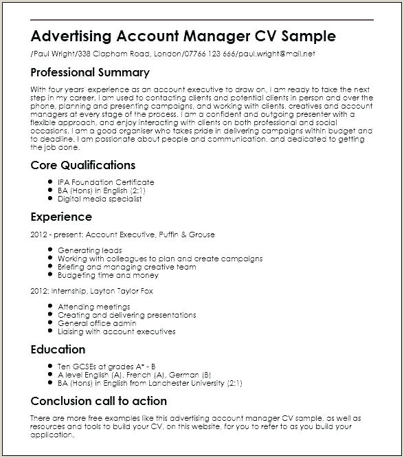 advertising executive resume – yuriewalter