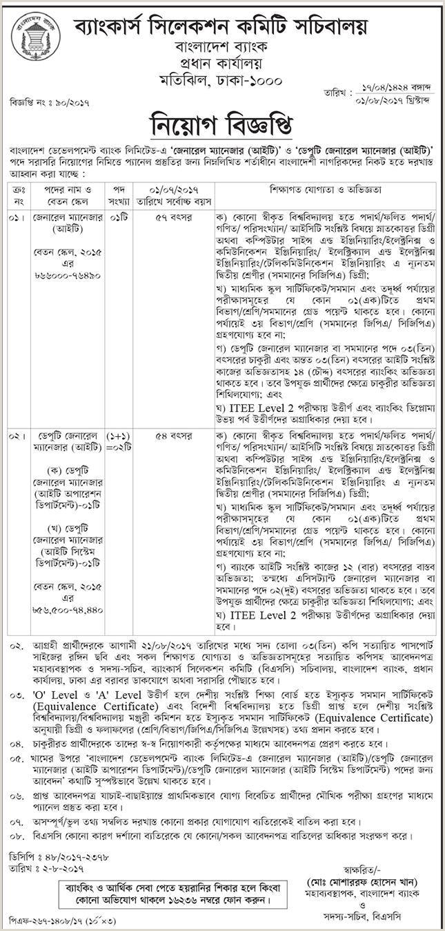 Latest Cv format for Bank Job In Bangladesh Bdbl