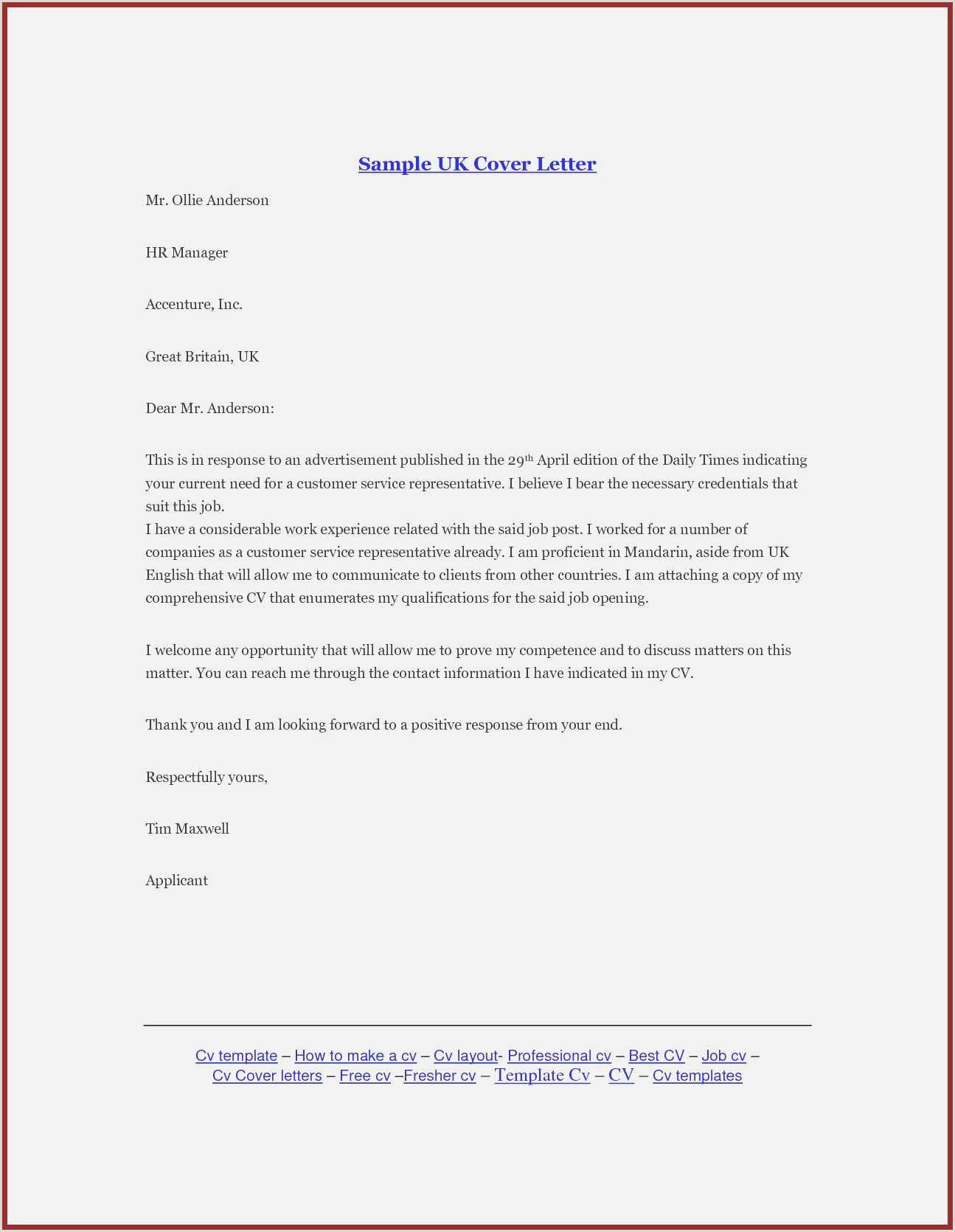 New Job Application Cover Letter Template