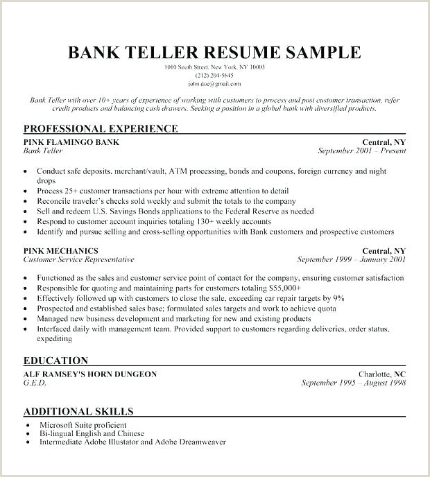 Latest Cv format for Bank Job Resume Examples for Banking Jobs – Joefitnessstore
