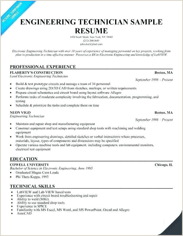 Latest Cv format for Electrical Engineers Electronic Resume Template