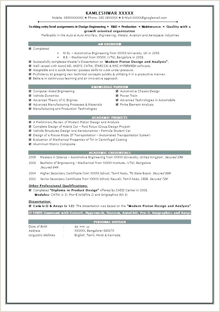 Latest Cv format for Engineers Freshers Resume Cv Example – Dew Drops