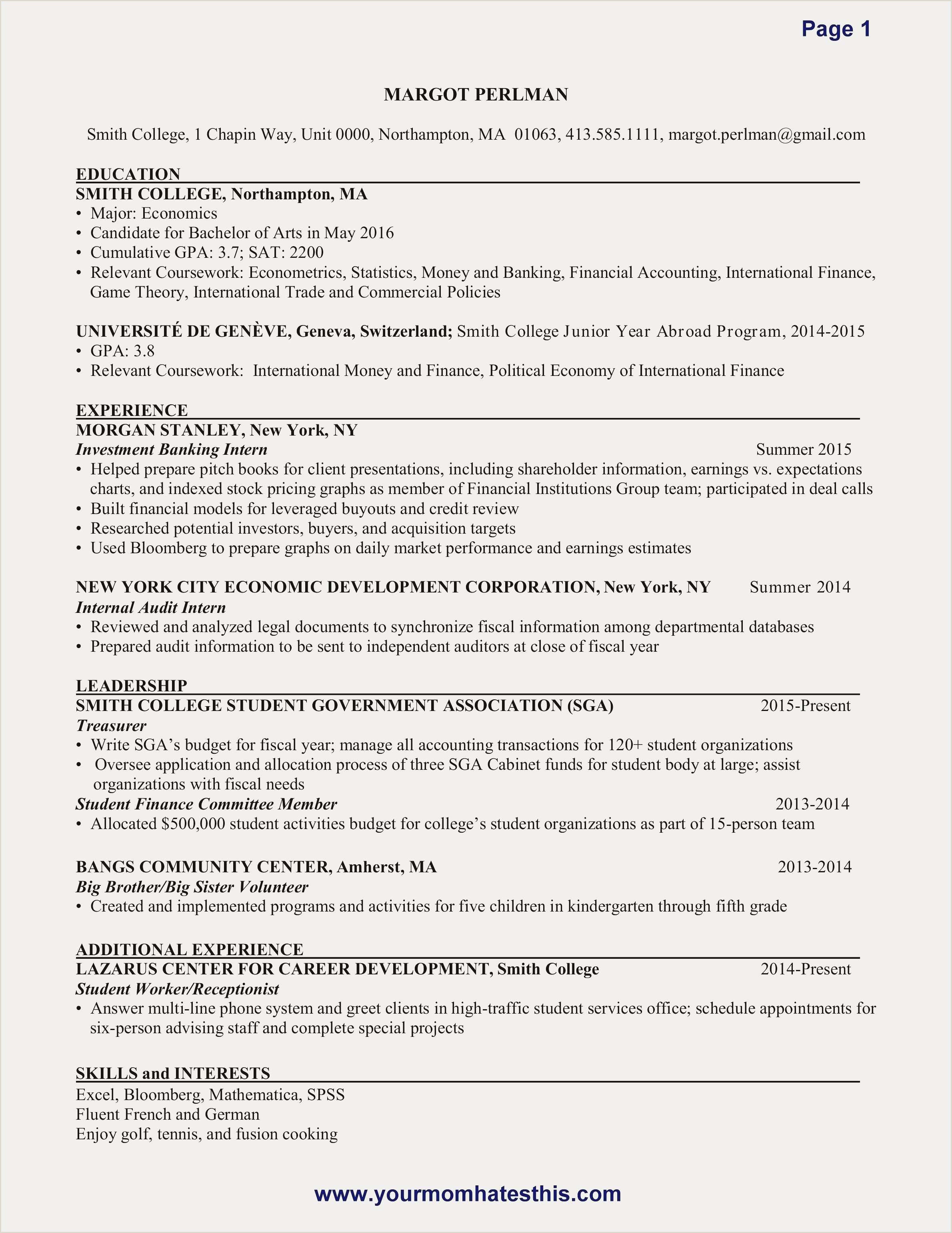 Unique Teen Resume Examples