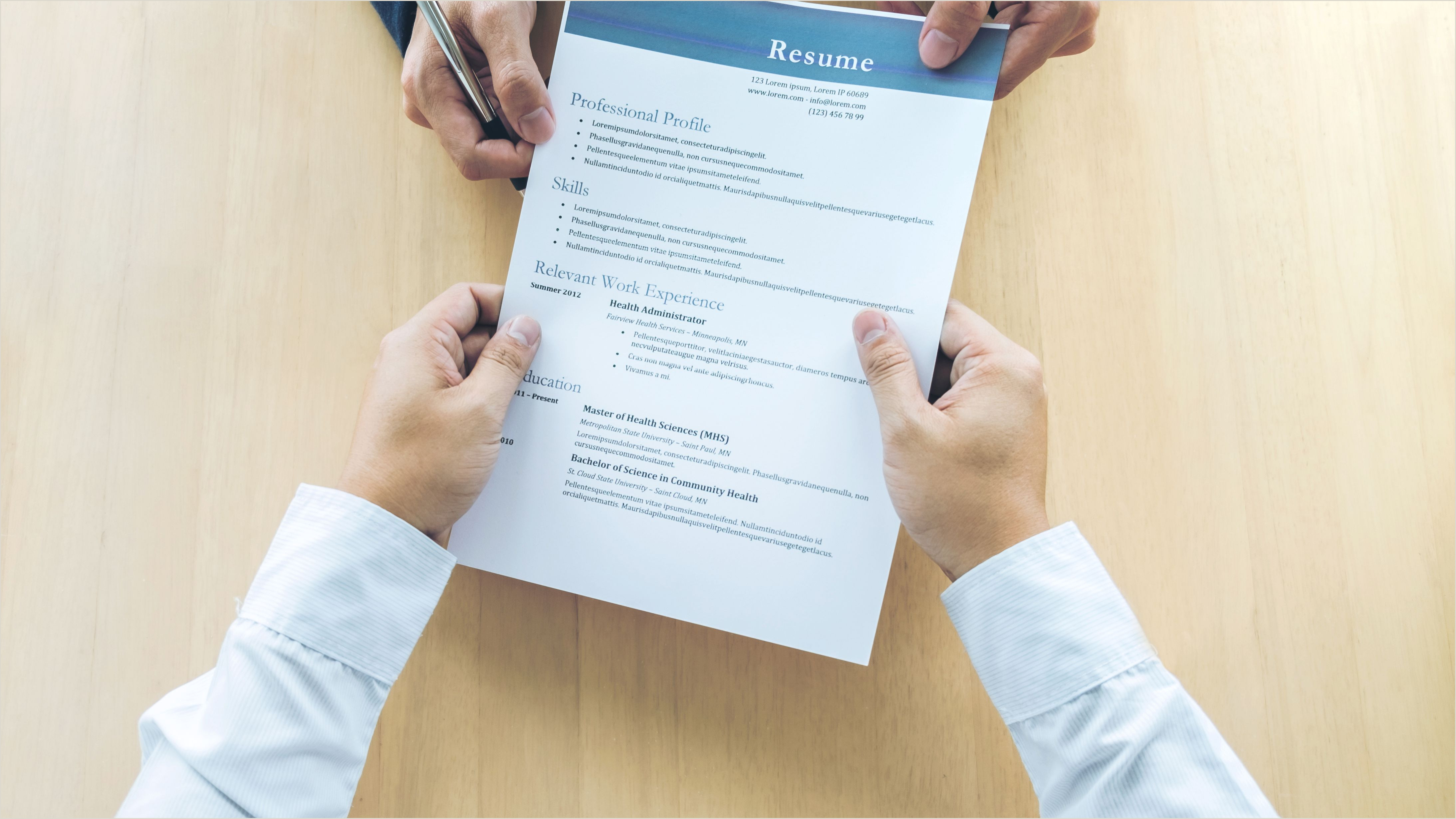Latest Cv format for Experienced Banking Professionals What to Include In A Bination Resume with Examples