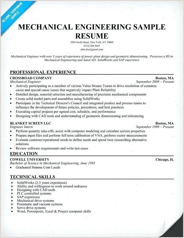 Latest Cv format for Experienced Mechanical Engineer Engineering Resume Templates Word – Joefitnessstore