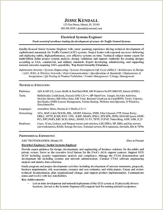 Latest Cv Format For Electrical Engineers Electrical