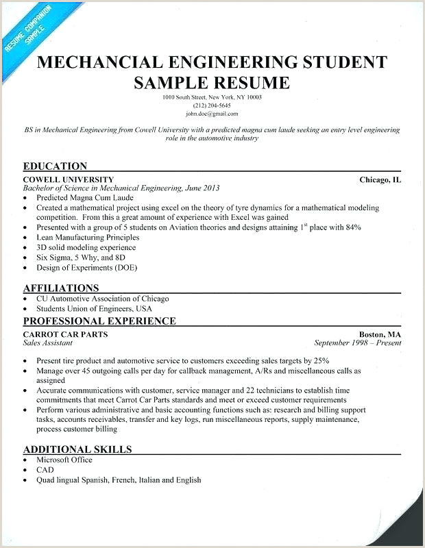 Latest Cv format for Experienced Mechanical Engineer Mechanical Engineer Resume Examples – Emelcotest