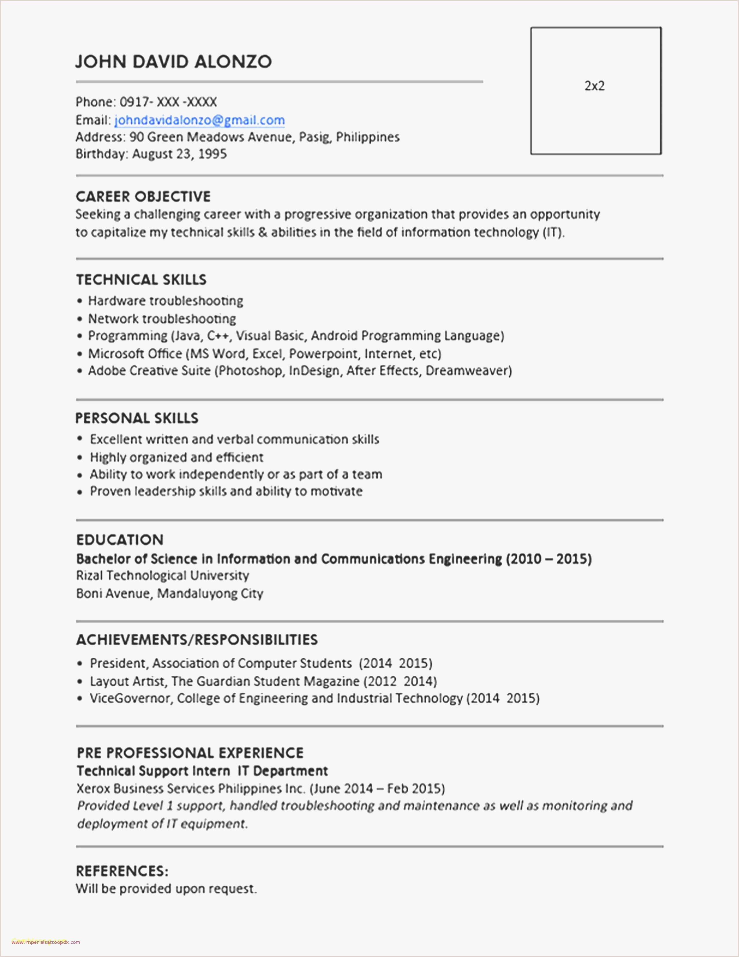 Student Simple Cv Template Inspirierend Cv Layout Template