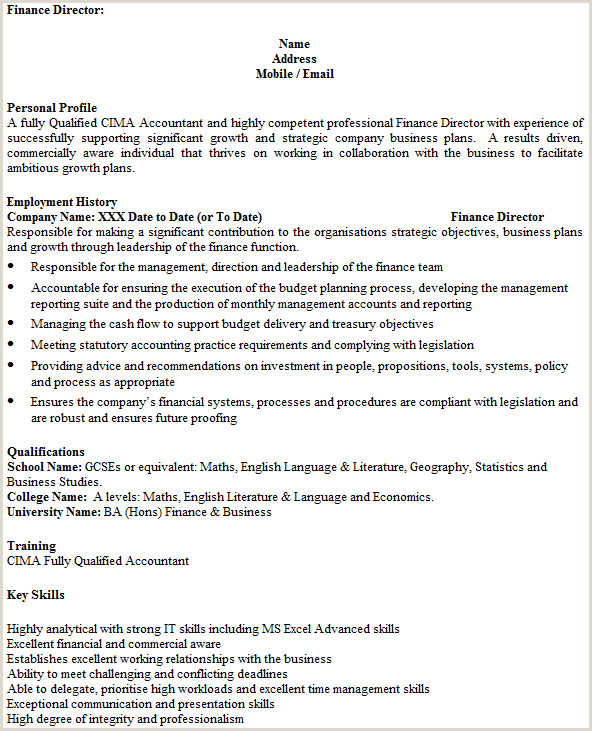 Cv Profile Examples Finance How to write the perfect