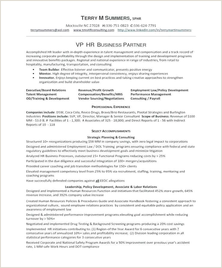 Human Resource Resume Template Templates Hr Manager ficer Cv