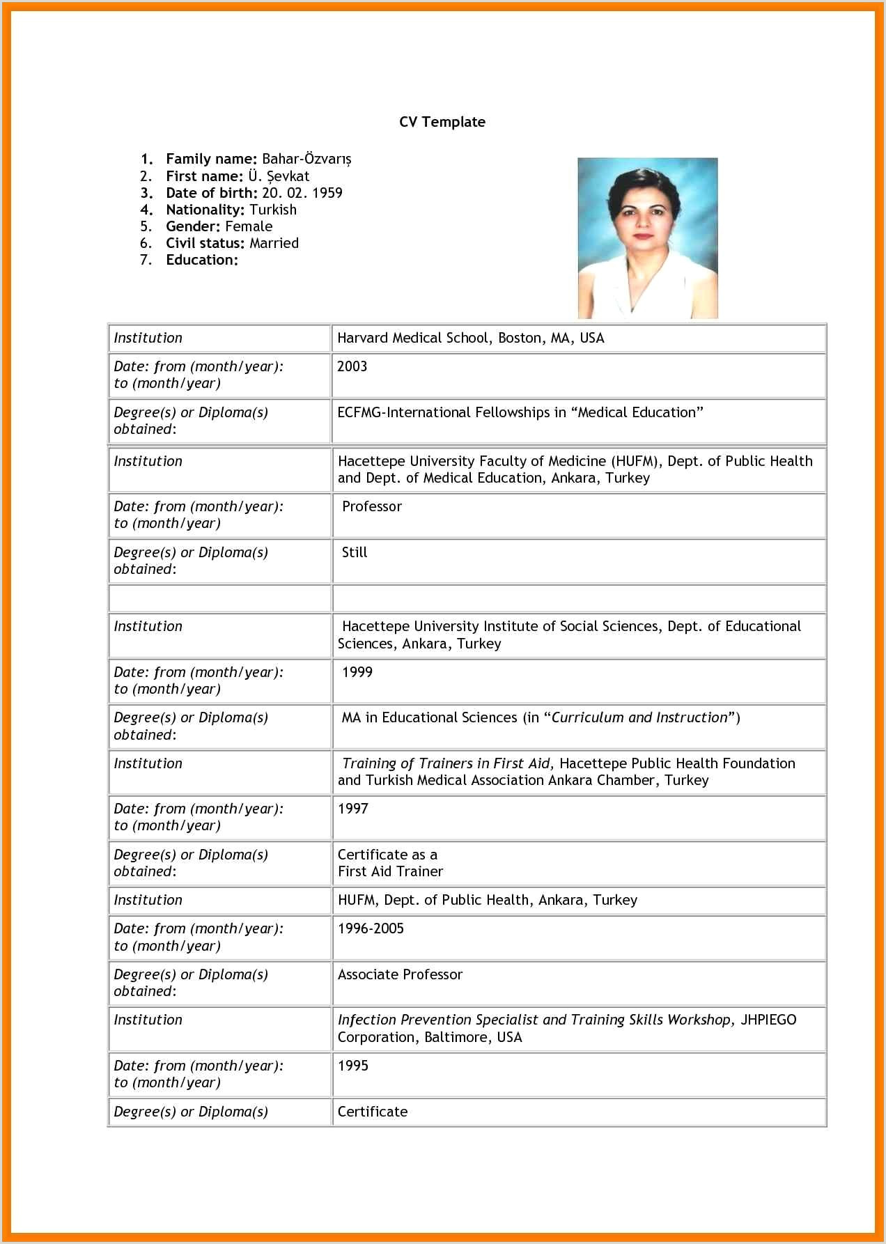Latest Cv format for Job Application In Sri Lanka Curriculum Vitae for Job Application Examples Filename