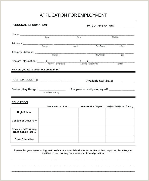 Printable Basic Job Application Form Templates Sample Cv For