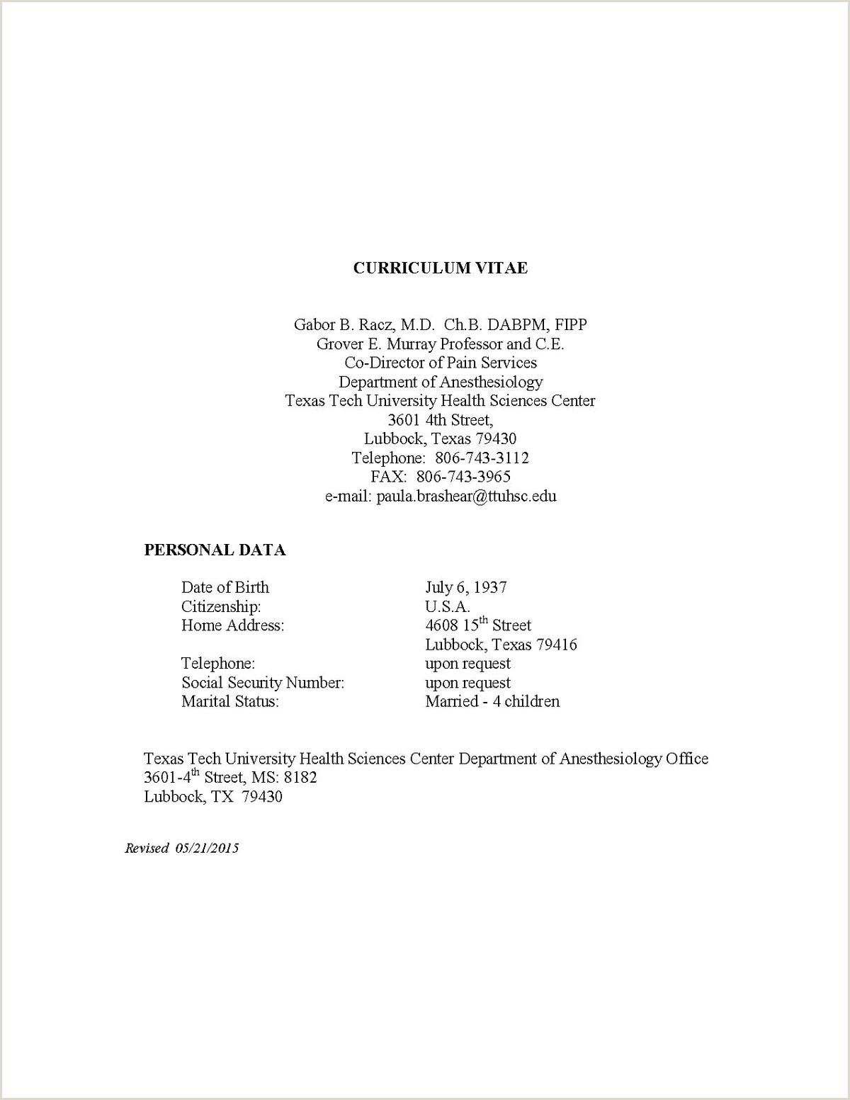Latest Cv format for Job Curriculum Vitae