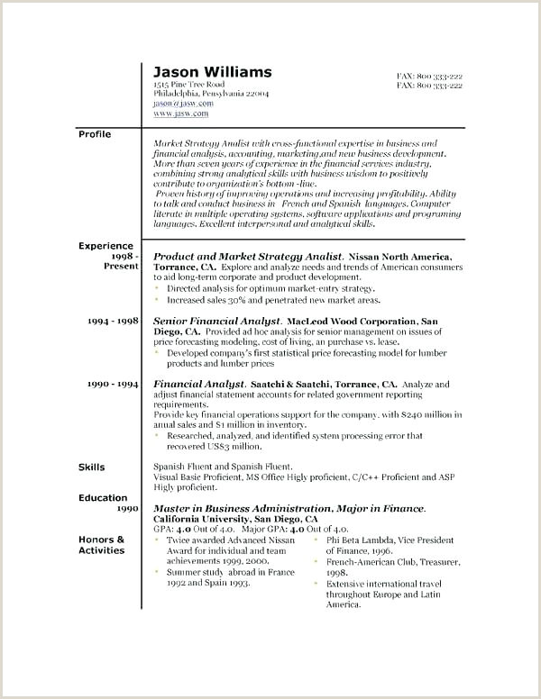 Latest Cv format for Job In Bangladesh Pdf Template Standard Resume Latest Free Resumes Samples Unique