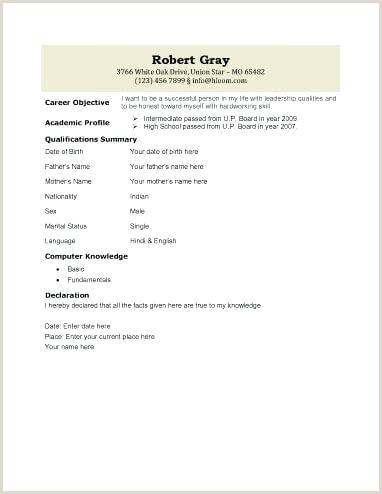 biodata template free