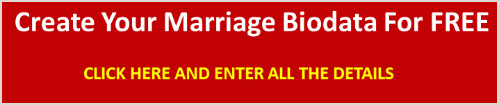 Latest Cv format for Marriage Marriage Biodata Sample Example for Boy and Girl