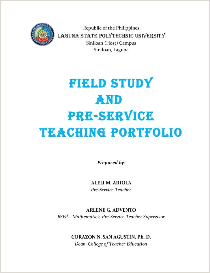 Latest Cv format for Maths Teachers Field Study and Pre Service Teaching Portfolio