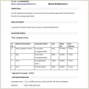 Latest Cv format for Mba Finance Freshers Beautiful Mba Fresher Resume format Pdf