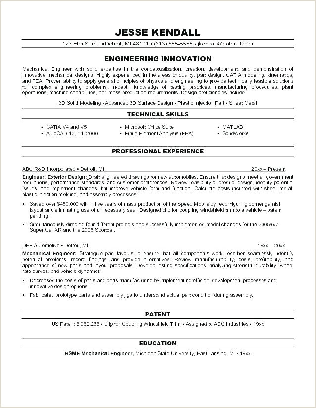 Latest Cv format for Mechanical Engineers Mechanical Engineer Template Word Achievements for Resume