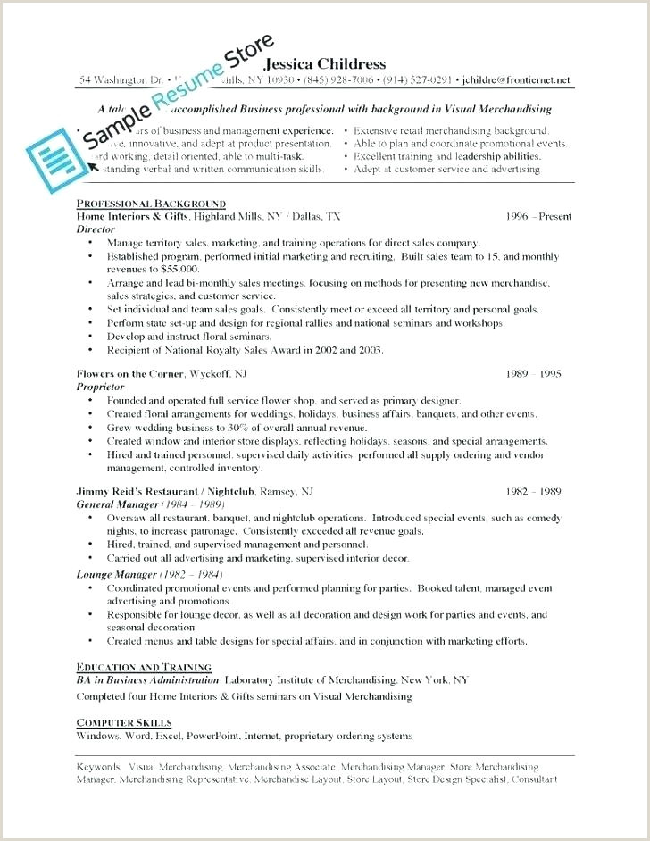 Latest Cv format for Merchandiser Retail Merchandiser Sample Resume – Podarki