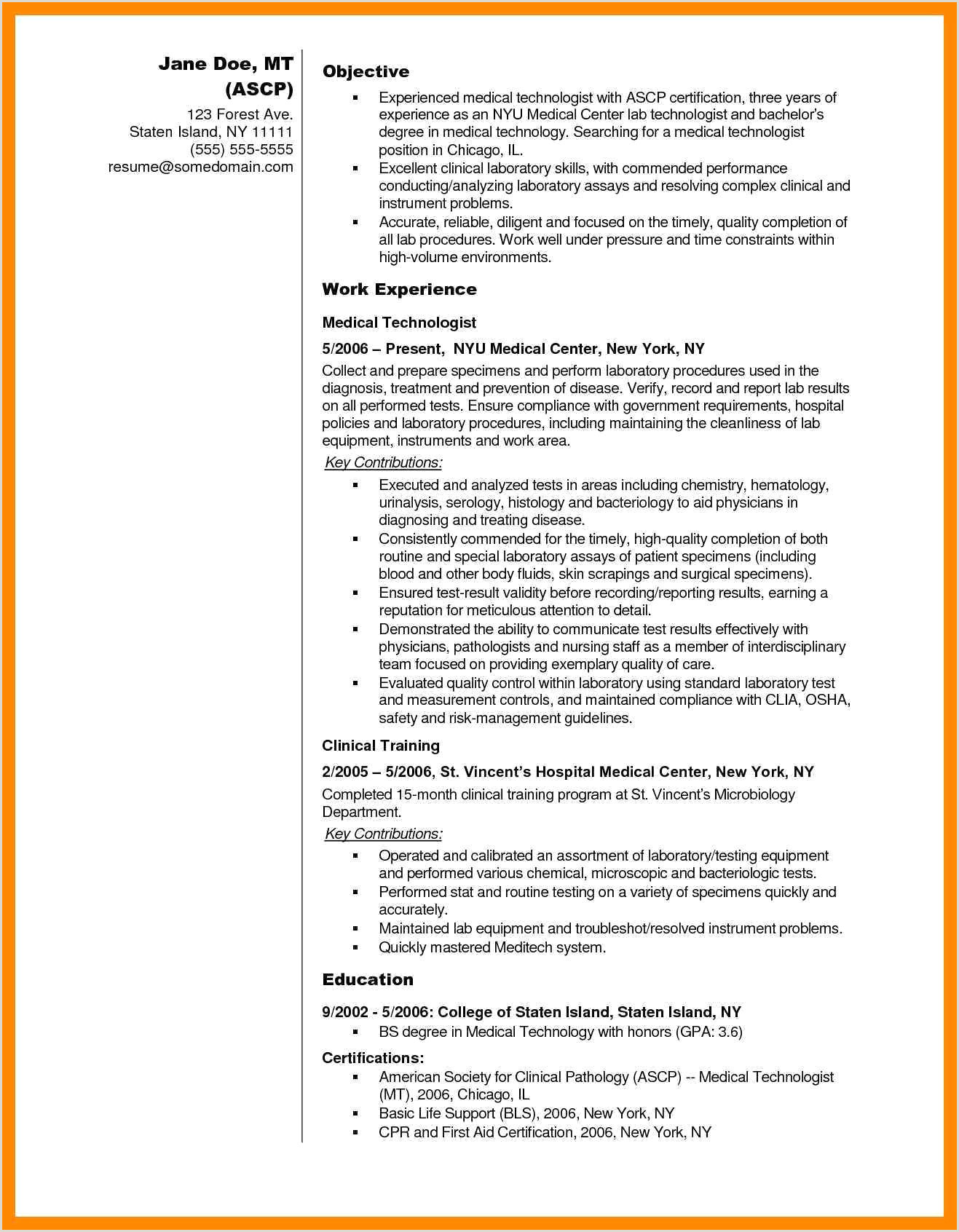 12 13 microbiology lab technician resume