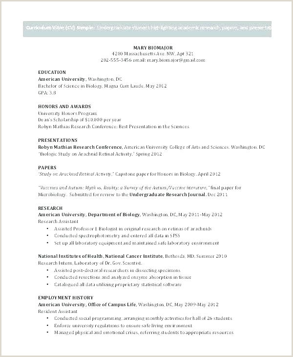 academic cv template doc