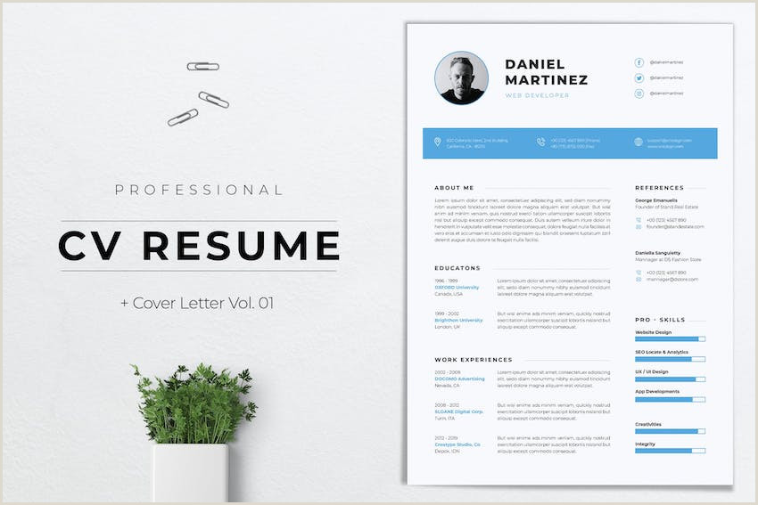 25 Top e Page Resume Templates Simple to Use Format
