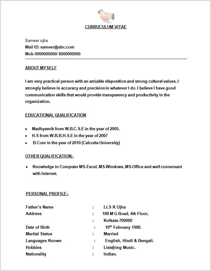 Microsoft Word Resume Template 49 Free Samples Examples