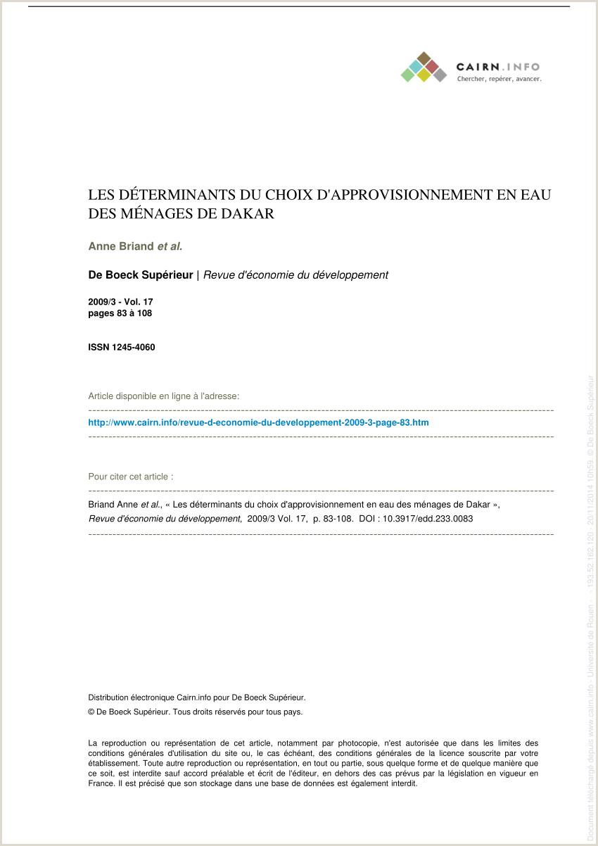 PDF Les déterminants du choix d approvisionnement en eau