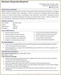 Image result for sample of curriculum vitae in nigeria