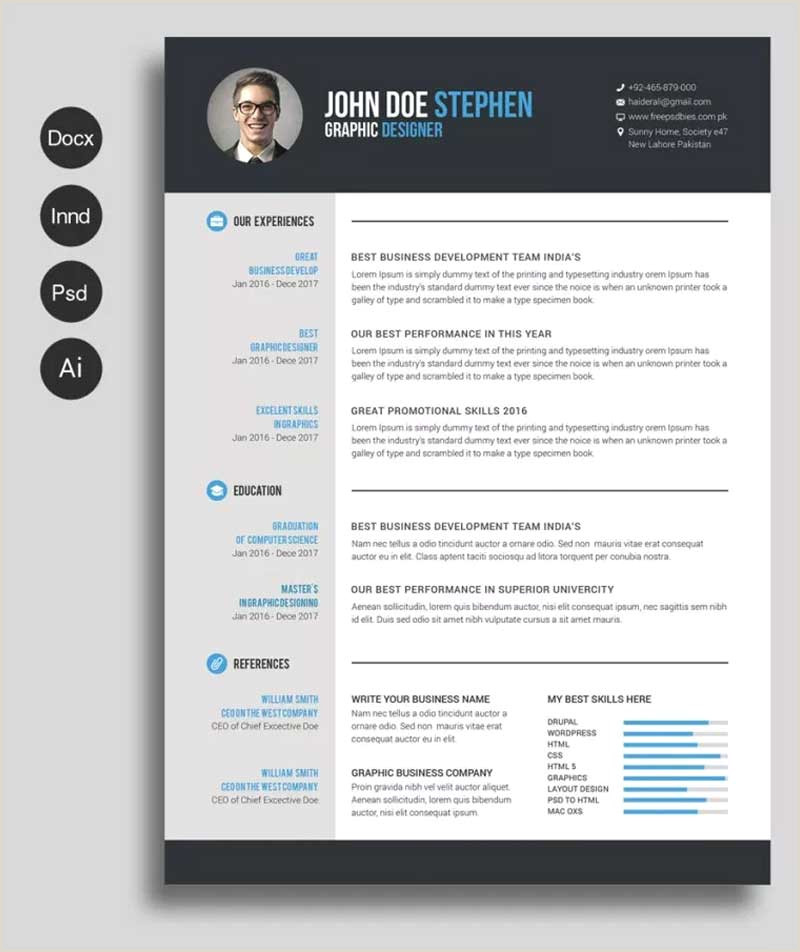 Latest Cv format In Pakistan 2019 50 New and Trendy Free Cv Resume Design Templates for 2019