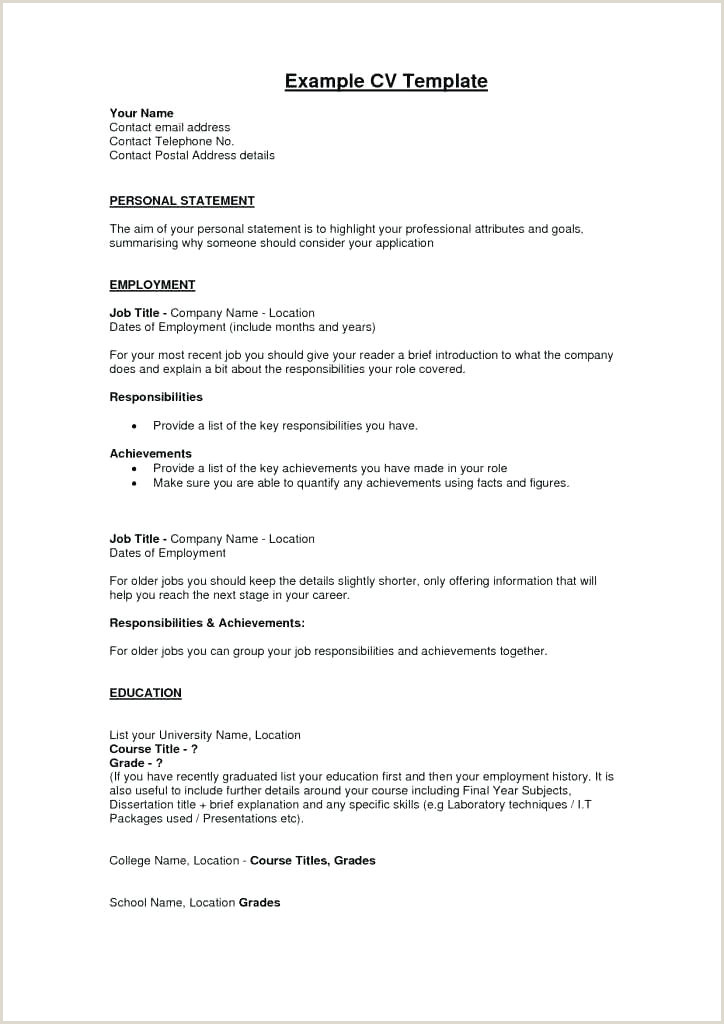 Latest Cv format In Pakistan 2019 Cv Template for Teaching Job