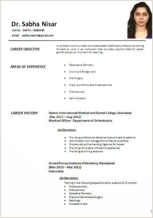 Professional Cv Format Pakistani Latest CV Format 2019 In