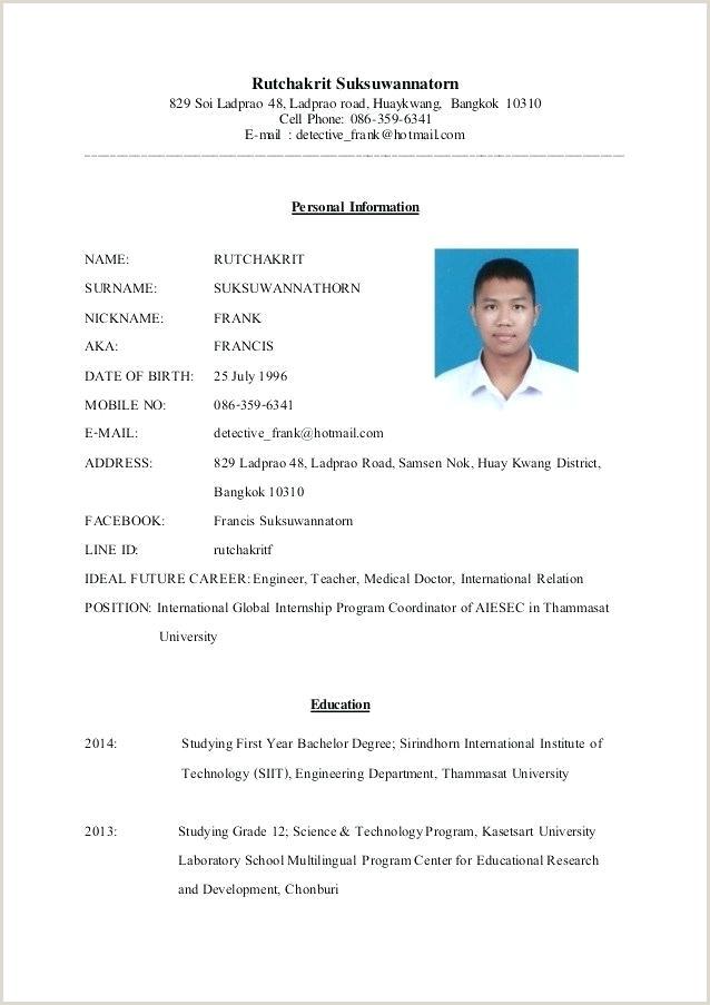 International Format Resume Job In New Formats Professional