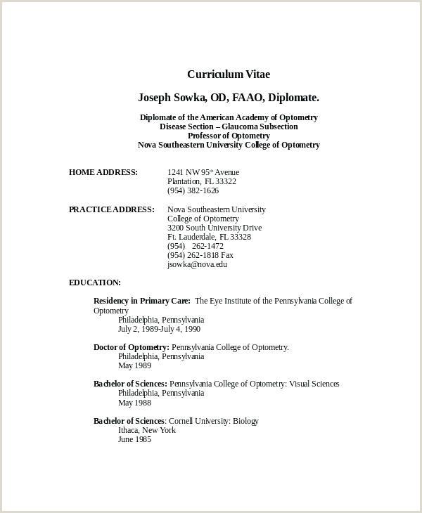New Format Standard Resume Format Elegant Example Template